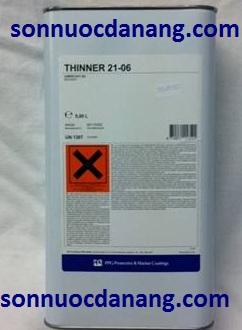 Dung môi Thinner 21-06   tại Đà Nẵng, Hà Nội, Tp Hồ Chí Minh là 1 loại sơn là 1 chất pha loãng được thiết kế nhằm làm giảm độ dày của các loại sơn PPG Sigma khác nhau, đặc biệt là để phun, cũng như để làm sạch các thiết bị trước và sau khi sử dụng.